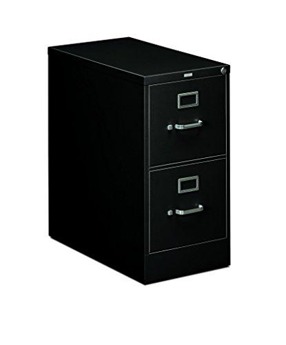Black Hochschrank (The HON Company H312.P.L HON312PL HON 2 Schubladen Hochschrank Serie 310 Full-Suspension-Briefenschrank, 2 Schubladen Brief 2-Drawer schwarz)