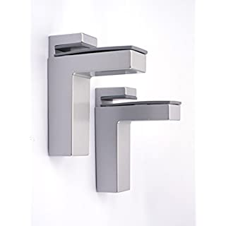 FENNEL UK 67.0115.0003 Adjustable Wall Mounting Shelf Brackets in Matt Silver (Aluminium colour) complete with fittings FREE UK DELIVERY ON ORDERS OVER £20.00