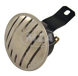 Hupe (Signalhorn) 6V und 12V - ALUBLENDE Simson S50, S51, S70 - (Befestigung am Gehäusemittelteil)