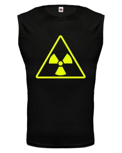 buXsbaum® Tank Top Radioaktiv V2 Black-Neonyellow