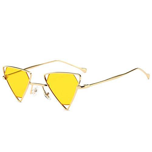 OULN1Y Sport Sonnenbrillen,Vintage Sonnenbrillen,Punk Sunglasses for Women Retro Metal Frame Black Yellow Pink Sunglasses Goggles