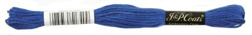 Manteaux Crochet 6-Strand Fil à Broder, Medium, Bleu, 24-Pack