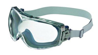 Uvex® von Honeywell Stealth® über die Brille Brillen mit Marineblau Wrap-around-Rahmen, klar dura-streme ® Kratzfest Anti-Fog Objektiv und Neopren Stirnband