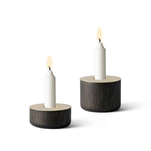 Menu 5610039 Kerzenständer Chunck aus Holz, M, Messing, Höhe 7 cm, Durchmesser 8 cm - 2