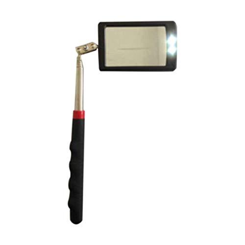 Heraihe Teleskopier Flexible Inspektionsspiegel mit Heller LED-Beleuchtung 360 Schwenker für Extra-Anzeigen Tragbare Kfz-Werkzeug