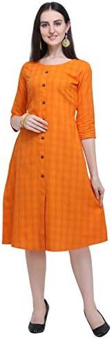 Pinkriti Women Cotton A-Line Kurta