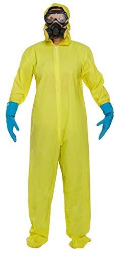 Hazmat Kostüm Anzug - Herren Damen weiß gelb schützende Bio Hazard Hazmat toxisch Forensische Anzug Verkleidung Kleid Kostüm Outfit groß - Gelb, One Size, Einheitsgröße