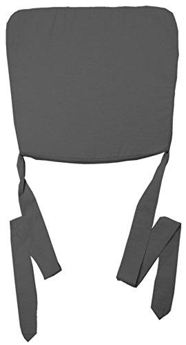 Nicht Zutreffend Stuhlkissen Sitzkissen Sitzpolster MAXIMA 3 | 47 x 43 cm | Anthrazit | Baumwolle | Polyester