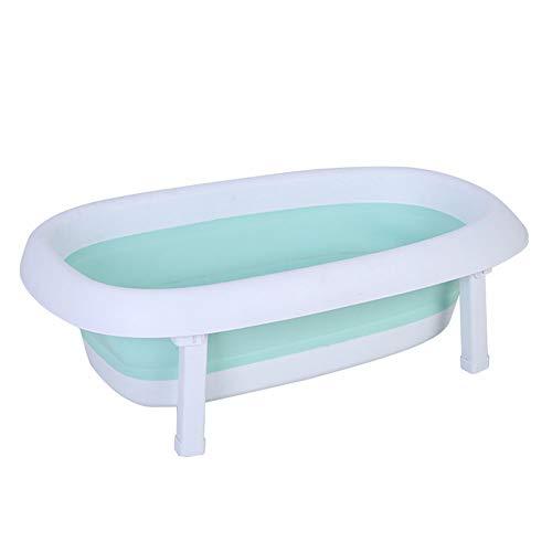 AGN Pet Bath zusammenklappbarer Haushalt Hund Katze Bath Barrel Barrel heiße Quelle Barrel Barrel Hund Duschwanne/Wäschekorb (Farbe: C)-freshgreen -