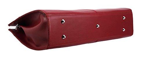 SLINGBAG Valentina Handtasche / Aktentasche / Schultertasche aus echtem Leder / FARBAUSWAHL (Rot) Rot