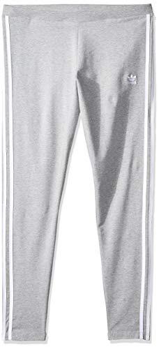 adidas Damen 3 STR Tights, Grau(medium grey heather), 42 Originals 3 Stripes Trefoil