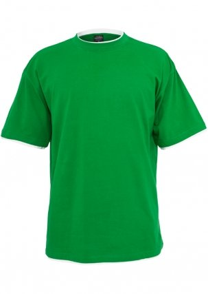 Urban Classics Contrast Tall T-Shirt Blank celticgreen/white
