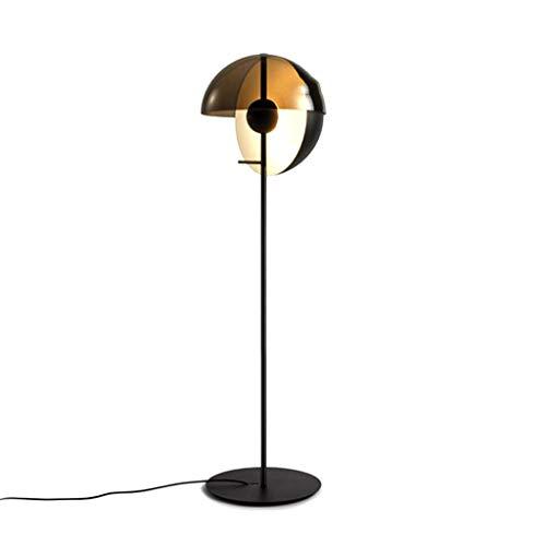 Cspmm lampada da terra, lampada da terra ad arco classica con paralume a sospensione per soggiorno, camera da letto, ufficio den, lounge, tensione: 111 v ~ 240 v (incluso)