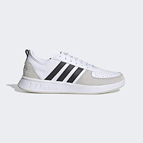 adidas Performance Court 80S Sneaker Herren weiß/schwarz, 9.5 UK - 44 EU - 10 US -
