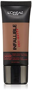 L'Oreal Paris Cosmetics Infallible Pro-Matte Foundation Makeup - Cocoa