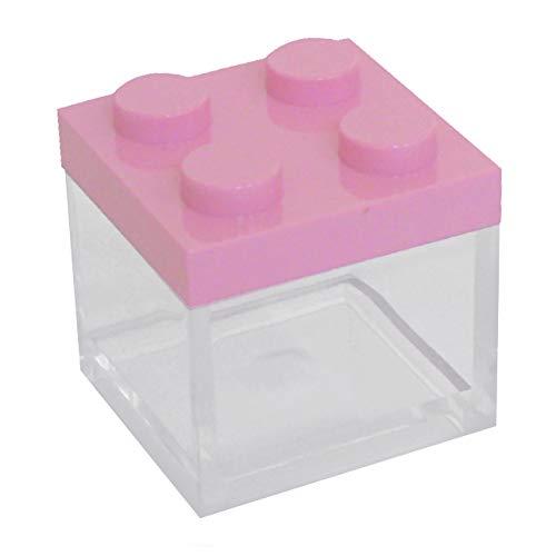 Omada design (48 pezzi) scatolina tipo mattoncino in plexiglas trasparente formato 5 x 5 x 5 cm, per bomboniere da matrimoni,cresima, comunione,battesimo e feste di laurea, made in italy by adamo.