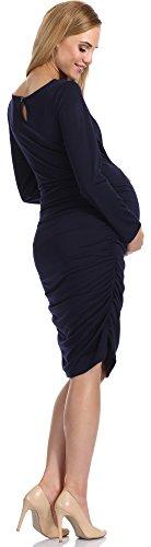 Be Mammy Damen Umstandskleid Anja Marineblau
