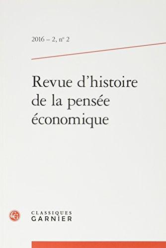 Revue d'histoire de la pensée économique, N° 2/2016 :