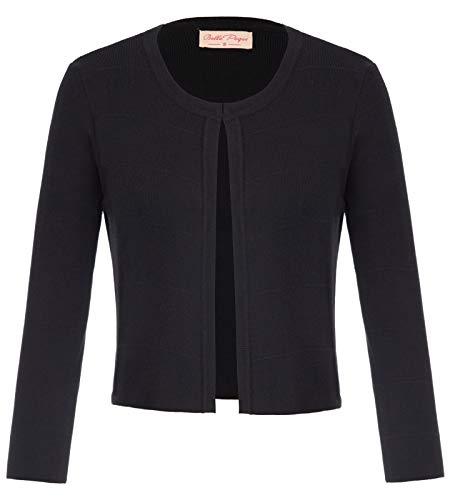 Festliche Cardigan Damen schulterzucken schwarz Cardigan Mode Outwear XL BP773-1