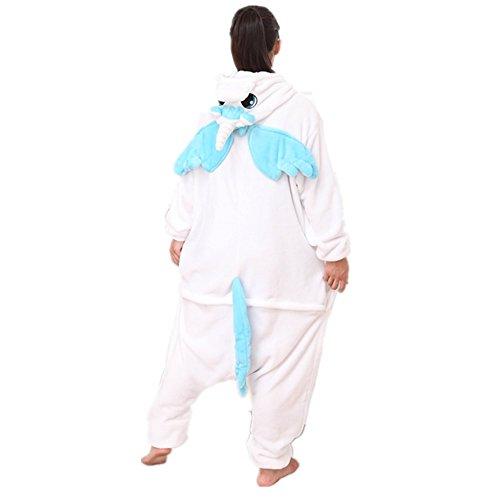 Misslight Einhorn Pyjama Damen Jumpsuits Tieroutfit Tierkostüme Schlafanzug Tier Sleepsuit mit Einhorn Kostüme festival tauglich Erwachsene (M, Blue with (Wings Blue Kostüme)