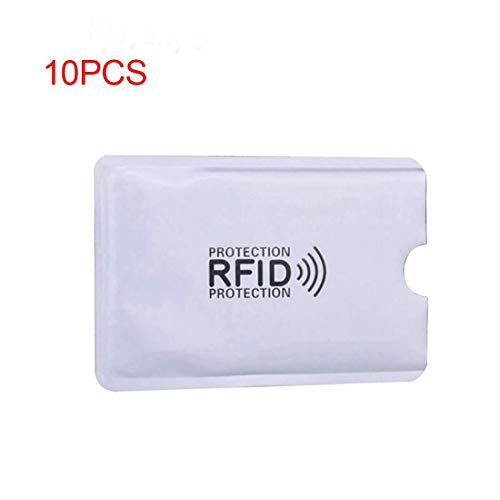 SODIAL 10pcs Aluminiumfolie Anti-Entmagnetisierung Abdeckung RFID-Abschirmung Tasche NFC Kreditkarte Anti-Diebstahl-Buerste ID-Karten-Beschuetzer