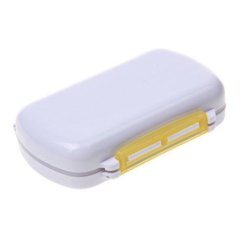 Günstig Tragbar 6 Slots Tablettendose, sauber halten, beste für Vitamine, Pillen Kapseln, Tabletten, Medikamente usw. - Gelb
