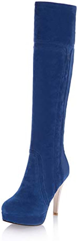 PINGXIANNV Les Femmes De Plus Bottines Chaussures Chaussures Bottines Femme Fermeture Éclair Hiver Longues Bottes Chaussures Femmes... 30ddfd
