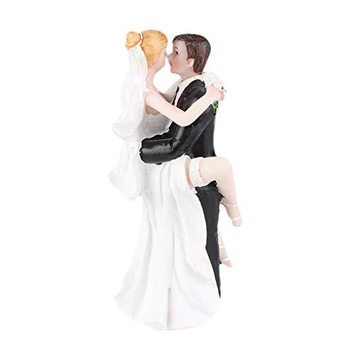 Masterein Süße Wedding Collectibles Lustiger Kuchen-Deckel-Braut-Bräutigam Kissing ()