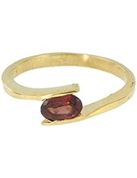 Ring mit vergoldetem Granat J 19 - Schmuck vergoldet aus vergoldetem Granat - Alle Größen und verschiedene Steine...