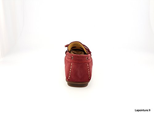 Mocassins Dingo nubuck 6804L - 9 coloris Bordeaux