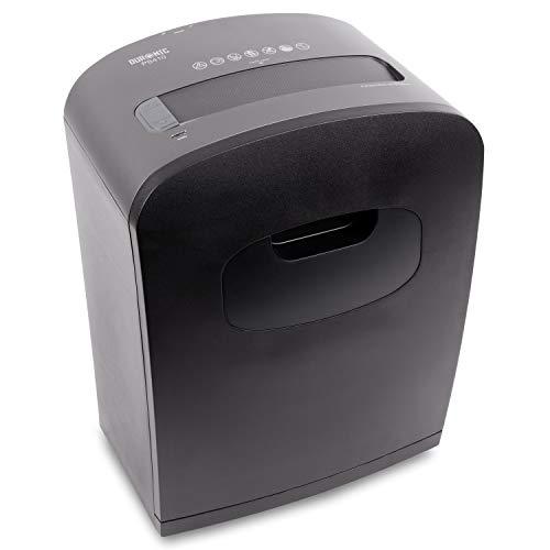 Duronic PS410 Destructora trituradora de papel con microcorte para máxima seguridad, de 14 l y 530W - Garantiza cumplimiento de LOPD, tritura 8 hojas A4 dobladas - Papelera para escritorio y oficina
