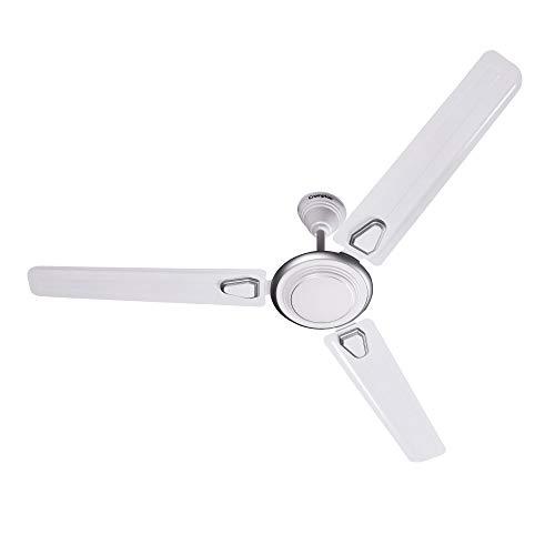 Crompton Super Briz Deco 48-inch Ceiling Fan (Silver White)