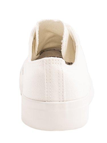 best-boots Damen Turnschuh Sneaker Slipper Halbschuhe sportlich Allwhite Basic