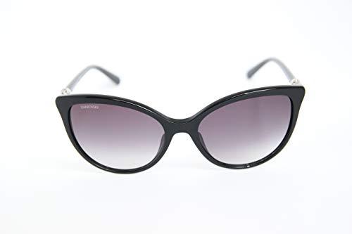 Swarovski sk-0147-01b occhiali da sole, nero (nero), 57.0 donna