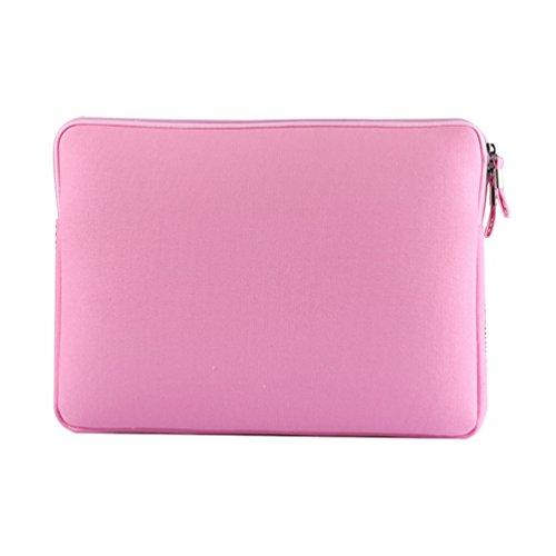 YiJee Universale Laptop Custodia Borse Handbag Accessorio Bag Per PC Portatili 13.3 Pollice Pink 1