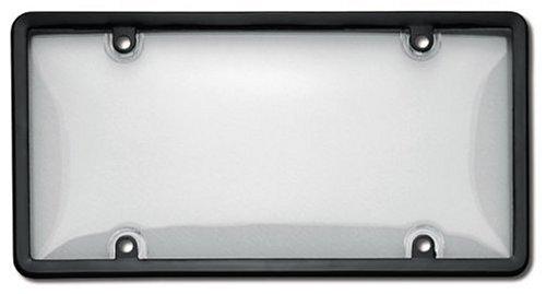 Cruiser Zubehör 60510Neuheit/License Plate Combo Bubble Shield und Rahmen, klar und Schwarz -
