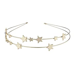 LUX Zubehör Gold Ton Double Wire Star Celestial Neuheit Fashion Haarband