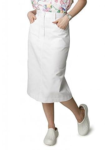 Adar Universal Jeans Skirt - 705 - White - Size-16
