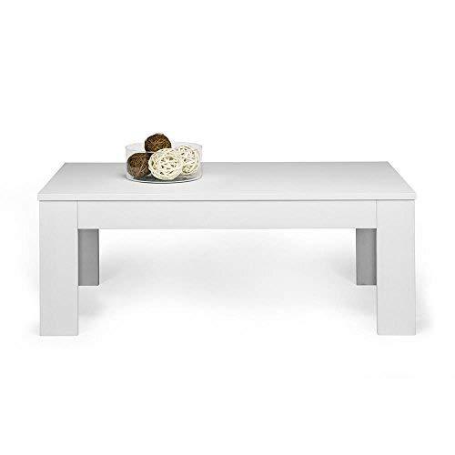 Mobili Fiver, Easy Table Basse en Mélaminé Couleur frêne Blanc - Idéale pour Un Salon - Dimensions : 100 x 55 x 44 cm