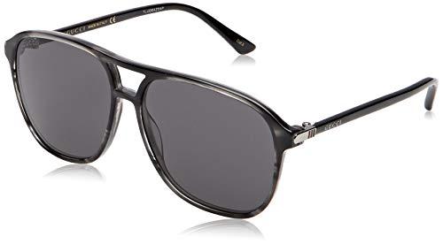 Gucci Herren GG0016S 005 Sonnenbrille, Braun (Avana/Green), 58