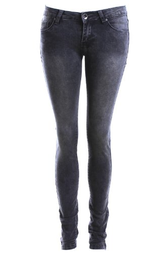 Jean skinny noir délavé Noir