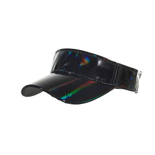 MZHPLD Estate Sport Outdoor Top Air Caps per Uomo Donna Plain Adulti Visiera Laser cap Golf Visiere da Corsa Cappello...