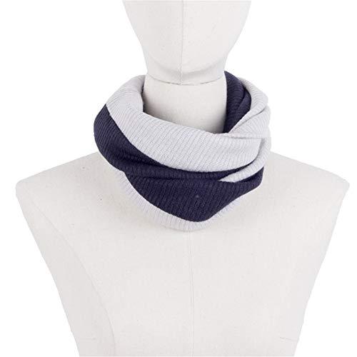 Y-WEIFENG Doppel Farbe Unisex Neck Wrap Warmer Winter Schals Chunky Schal Für Männer Frauen Kreis Schal Winddicht Schal (Farbe : Weiß) (Wrap Doppel Damen)