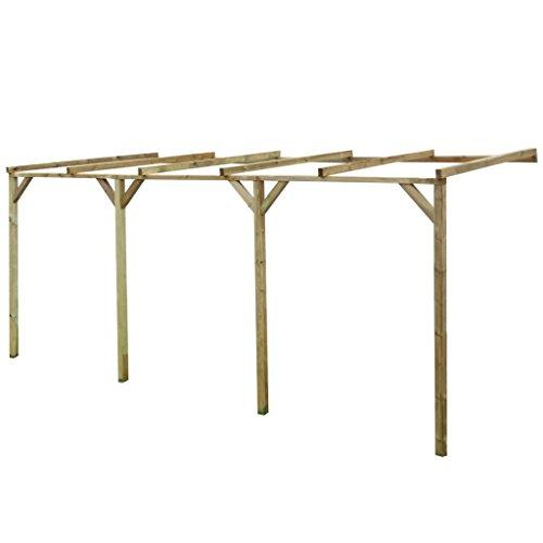 vidaXL Pérgola de madera con techo inclinado, 2 x 5 2,2 m