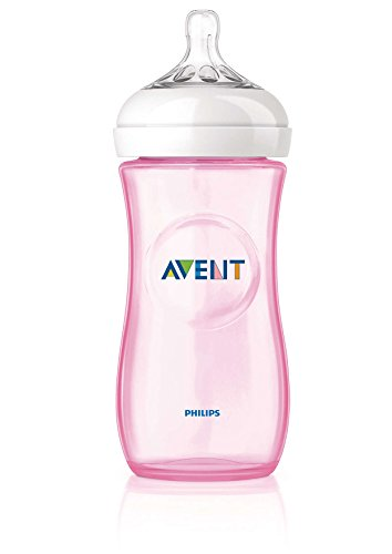 Philips Avent SCF697/17 Biberon Natural Anticoliche per Allattare in Modo Naturale, 330 ml, Rosa