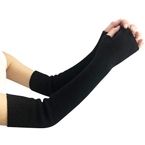 Amorar Damen Winter Handschuhe Gestrickte Armstulpen Kaschmir Armwärmer Lange Fingerlose Pulswärmer Hand-Stulpen Handwärmer Armhülse,EINWEG Verpackung
