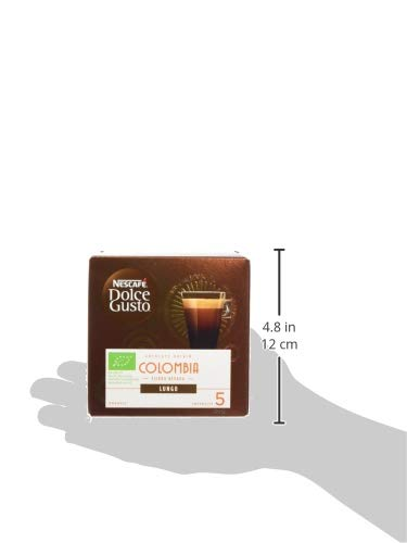 NESCAFÉ Dolce Gusto Colombia Sierra Nevada Lungo Coffee Pods, 12 Capsules (36 Servings, Pack of 3, Total 36 Capsules)