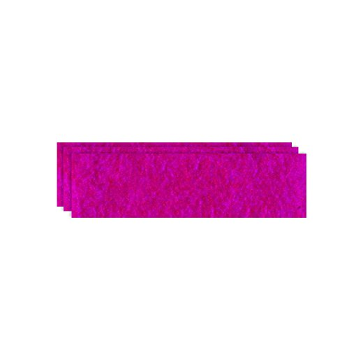 GLOREX Bastelfilz (40 x 30 cm) pink, 4 mm dick, 3 Filzplatten