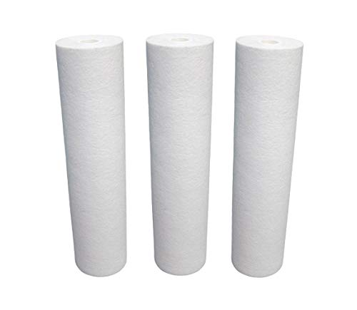 3-Pack Umkehrosmose 10zoll | 25,4cm Sediment Wasserfilter Kartuschen | 5 Mikron | für Umkehrosmose Wasser Filter | Wasser Behandlung (Sediment-wasser-filter)