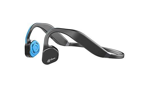 SportXtreme Titanium Wireless Bone Conduction Headphones - Cuffie audio Bluetooth a conduzione ossea con microfono per attività sportiva, Blu